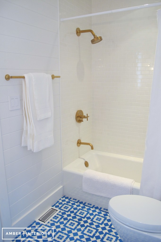 before after guest bathroom remodel amber interiors