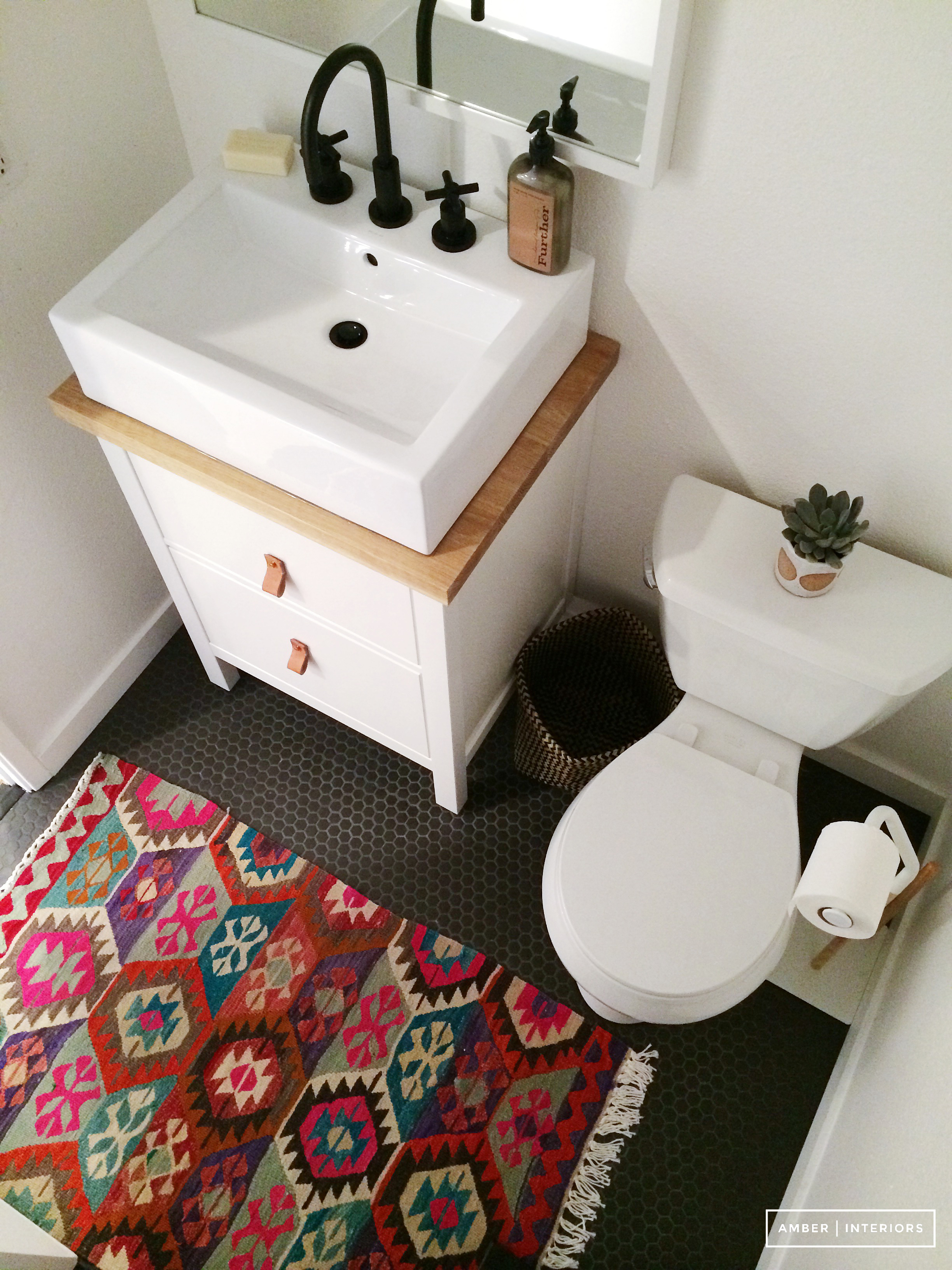 Salle De Bain Rose Et Blanc ~ Yes A Persian Bathroom Rug Can Work In Your Home