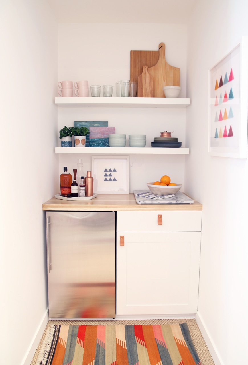 Studio kitchenette amber interiors for Kitchenette layout