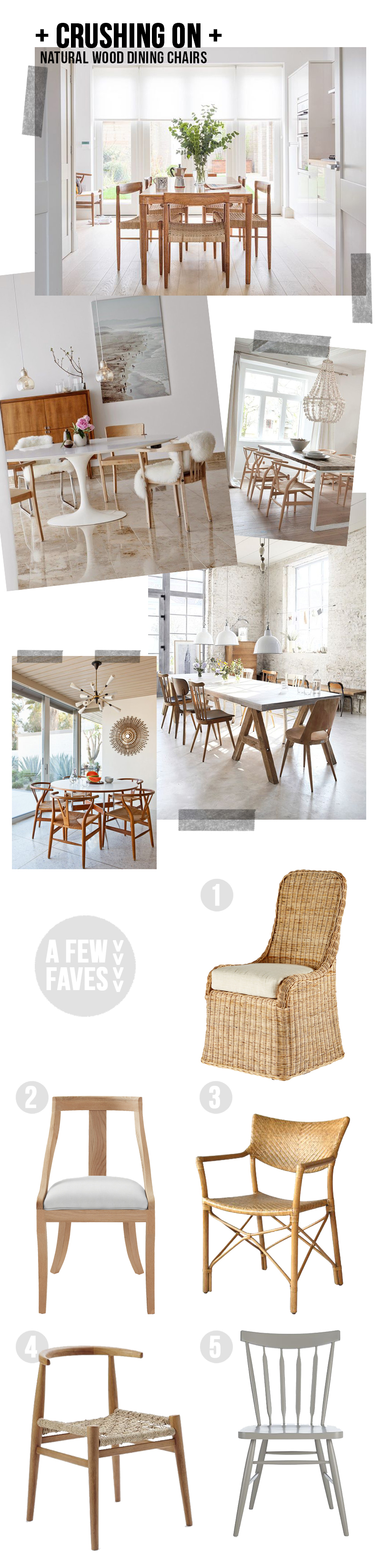 Amber Interiors - Crushing on - Natural Dining Chairs