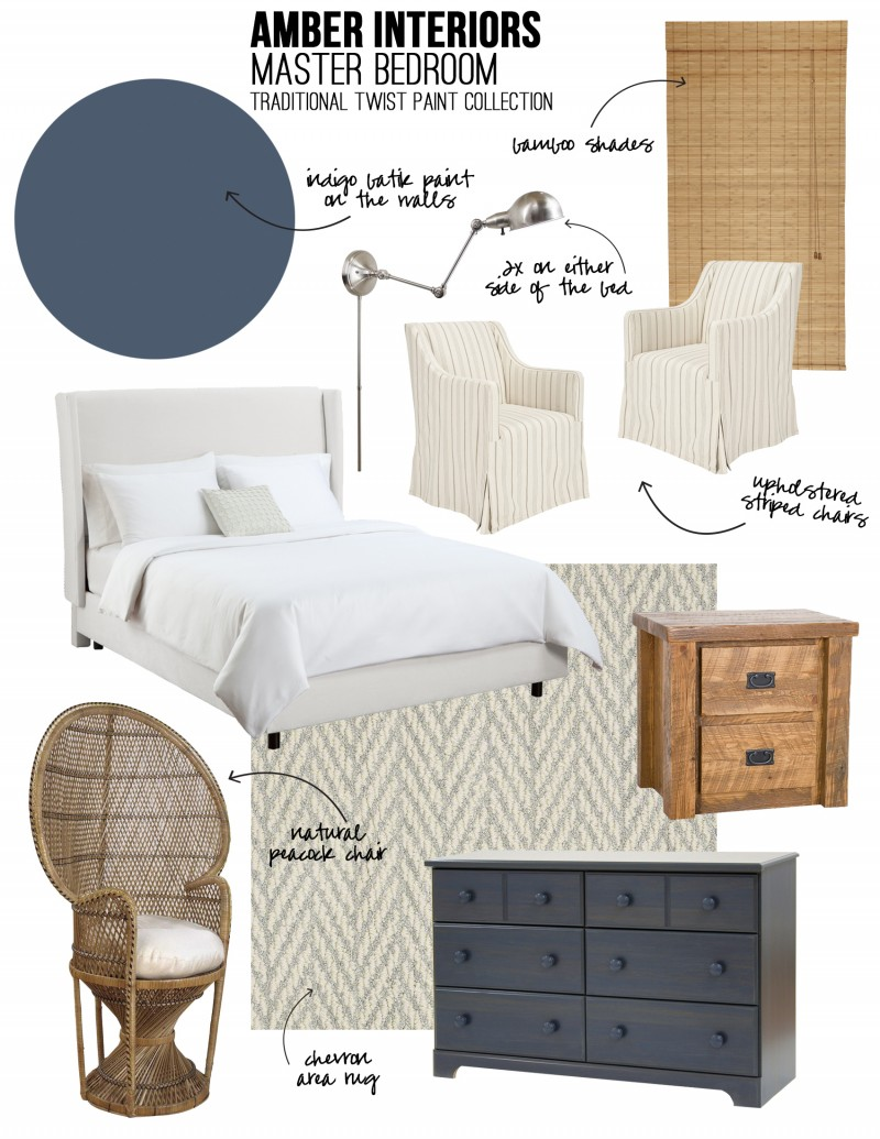 Amber Interiors - Lowes Sherwin Williams - Master Bedroom