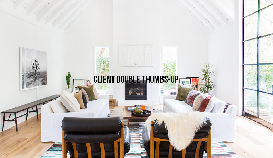 Amber Interiors Portfolio - Client Double Thumbs-up - Main