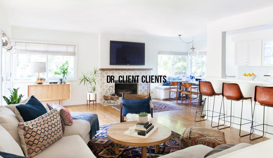 Amber Interiors Portfolio - Dr. Client Clients - Main