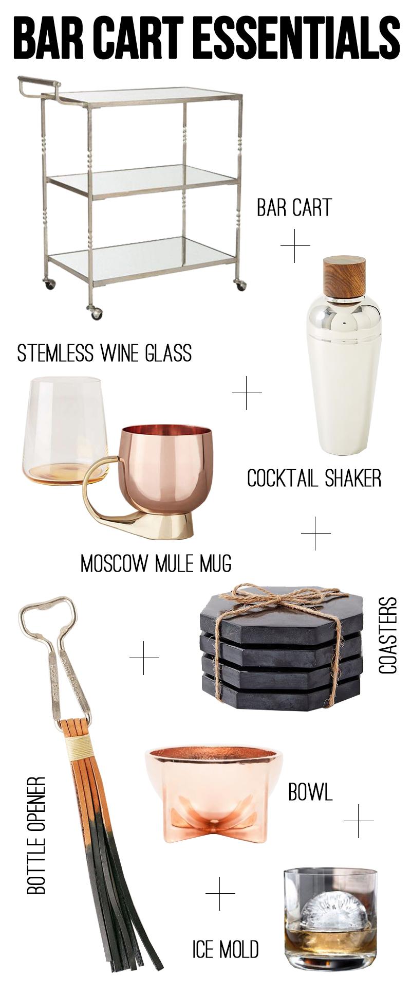 Amber Interiors - Bar Cart Essentials