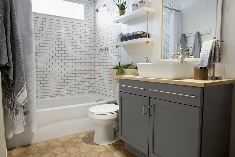 Amber Interiors - Lowe's - Bathroom Transformation 2
