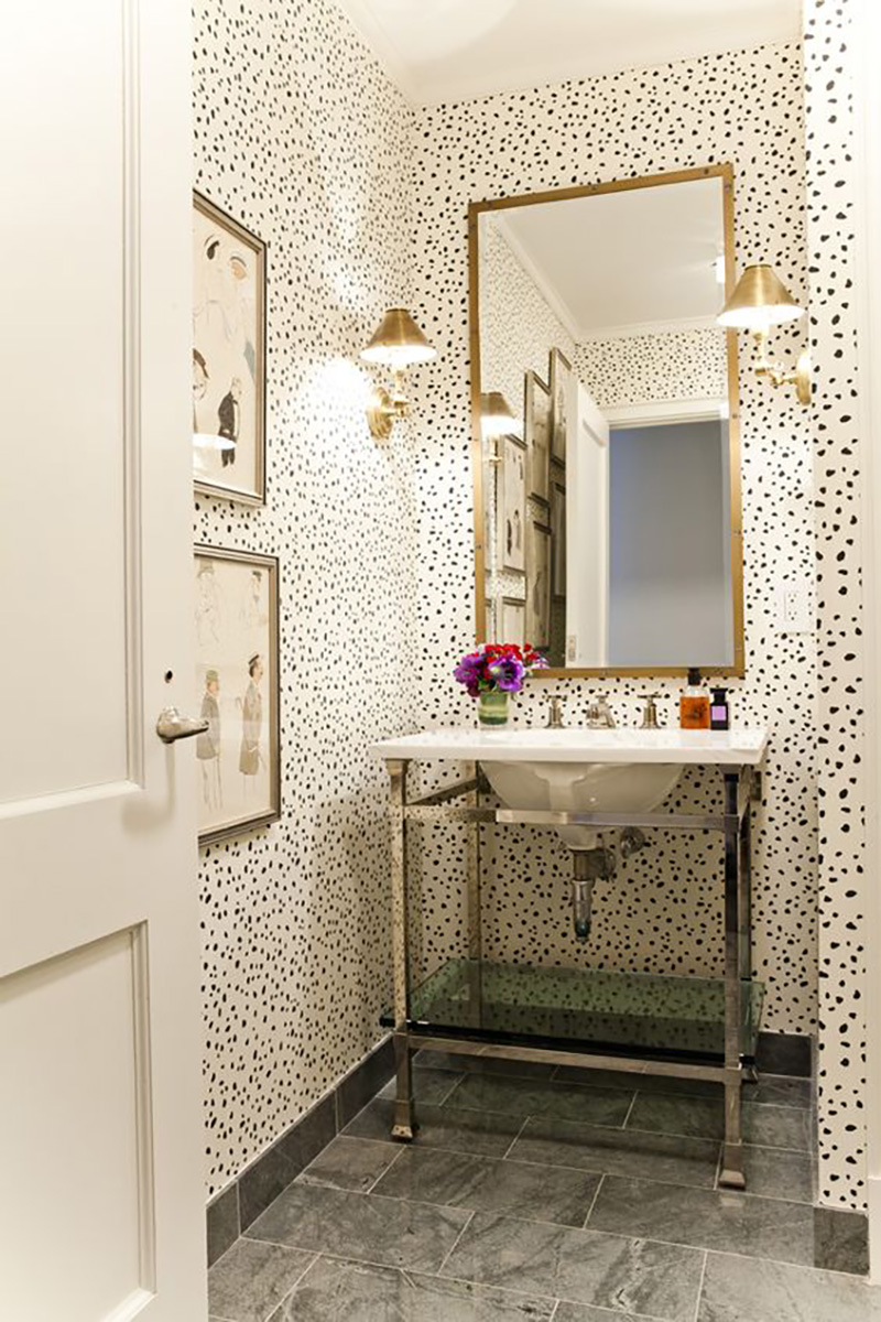 Small powder room ideas amber interiors - Powder room wallpaper ideas ...