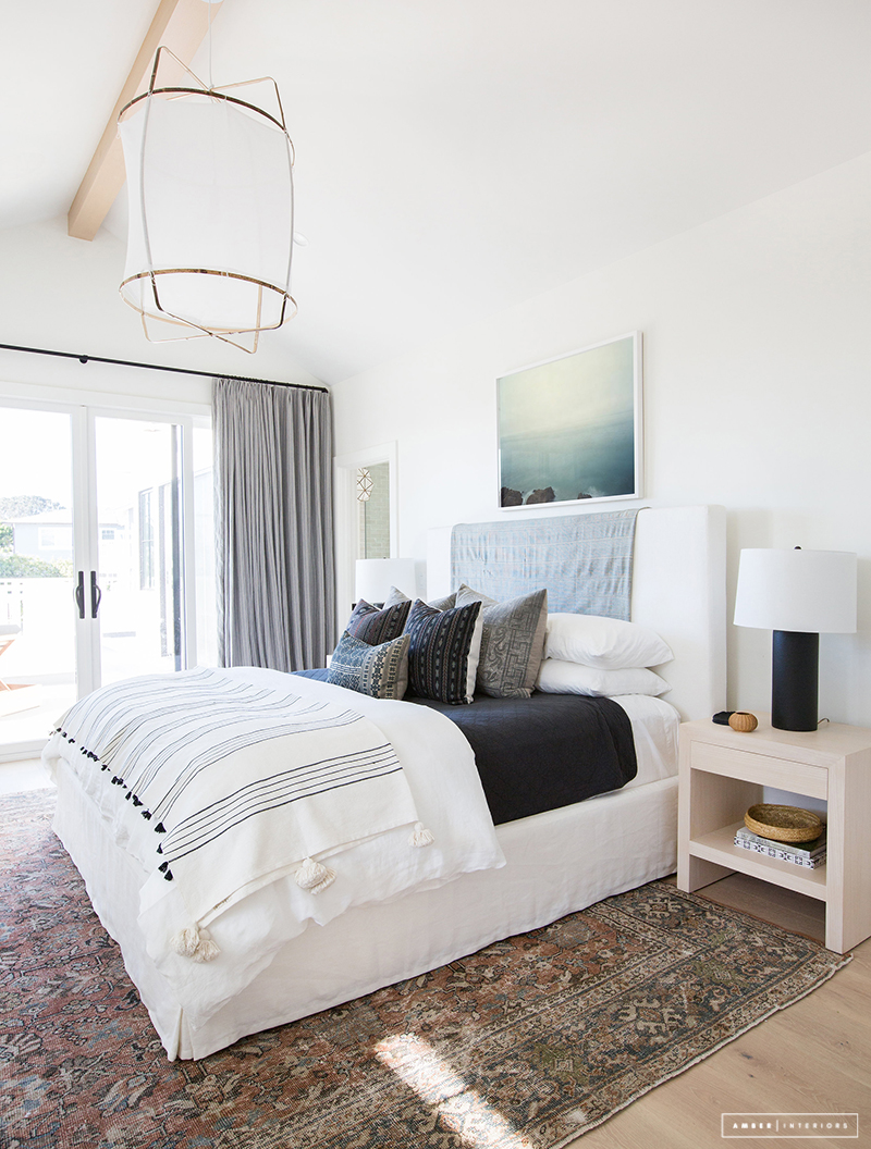 Just the after client holla at la jolla amber interiors for Master bedroom minimalist design